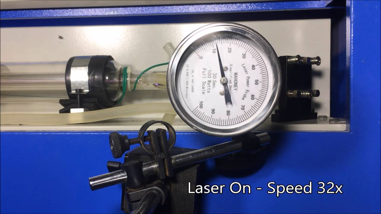 Measuring power of CO2 Laser  Checking power of 50W Chinese Laser Cutter
