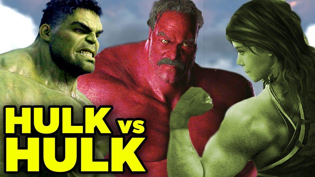 SHE-HULK Revealed! Hulk vs Red Hulk & Avengers Endgame Theory!