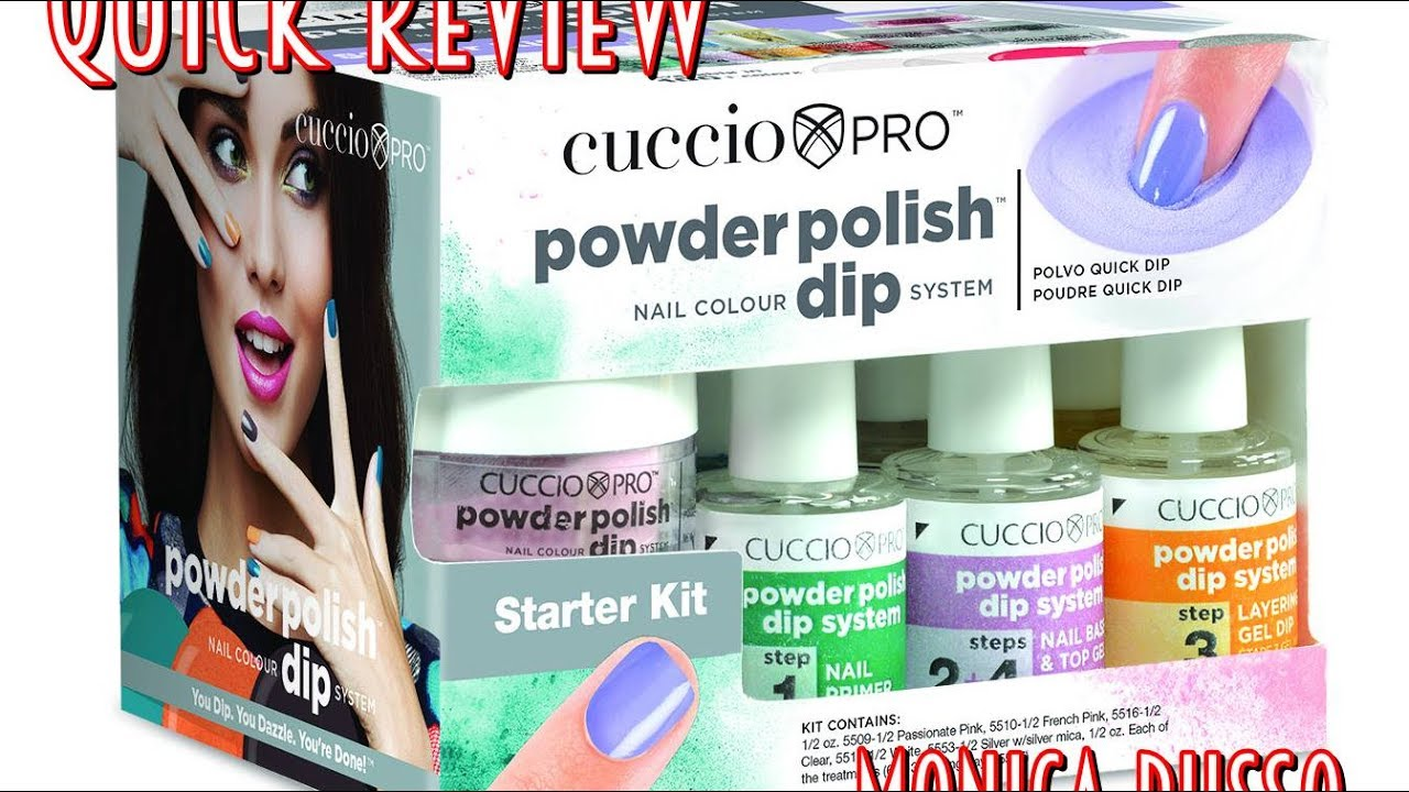 Cuccio Pro Powder System Dip System Quick Review - SB Nails - YouTube