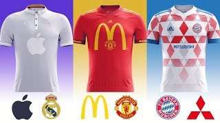 15 Amazing Football Clubs Concept Kits if Owned By These Giant Brands