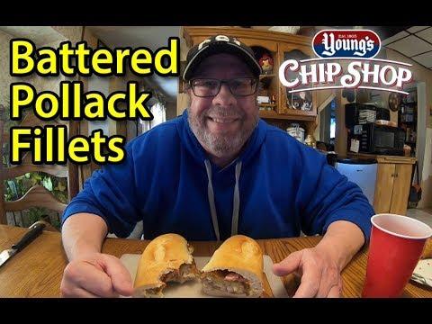 Young's ® Established 1805 | Battered Pollack Fillets 🍔🐟 👀 | Taste Test & Review | JKMCraveTV