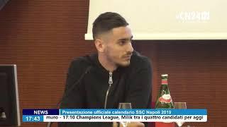 Presentazione ufficiale calendario SSC Napoli 2020 con Alex Meret e Fernando Llorente