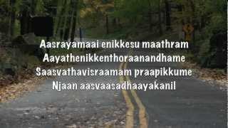 Malayalam Christian Song - Aasrayamaai Enikkesu Maathram