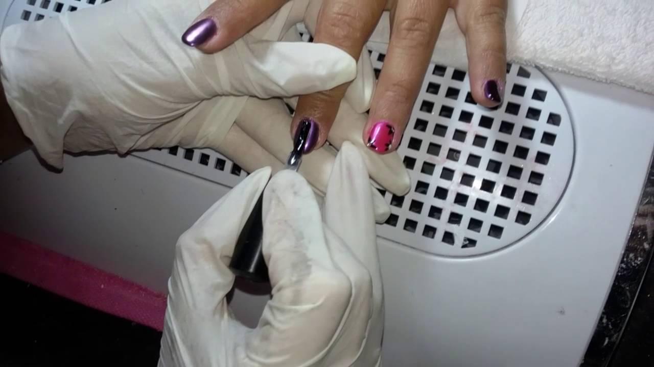 Unghie effetto specchio applicazione chrome mirror elleerre nails youtube - Unghie effetto specchio ...
