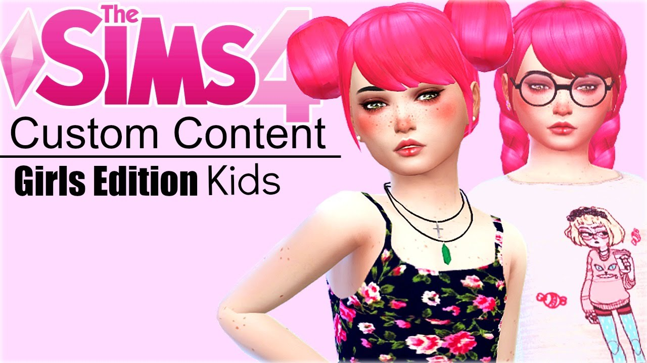 the sims 4 custom content kids girls   youtube