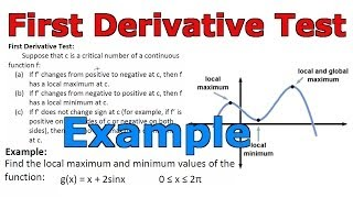 first derivative test example y x 2sin x