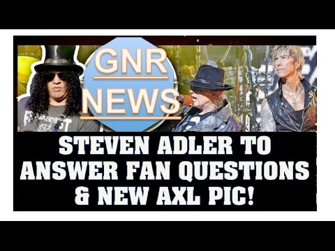 Guns N' Roses News: Steven Adler to Answer Fan Questions On Reddit, New Axl Rose Osaka Japan Pic and Mp3