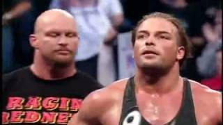 WWF No Mercy 2001: Stone Cold Steve Austin vs Rob Van Dam vs Kurt Angle Promo