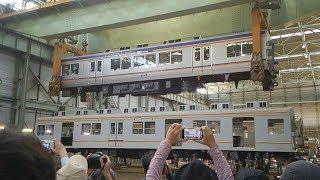 南海電車まつり 車体吊り上げ実験