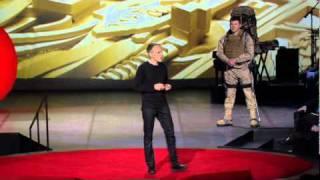 Eythor Bender demos human exoskeletons