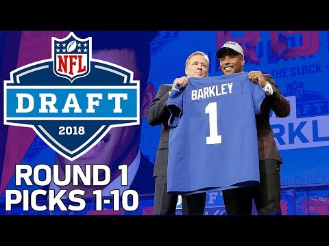 Picks 1-10: Trades, QB Surprises, & MORE! (Round 1) | 2018 NFL Draft