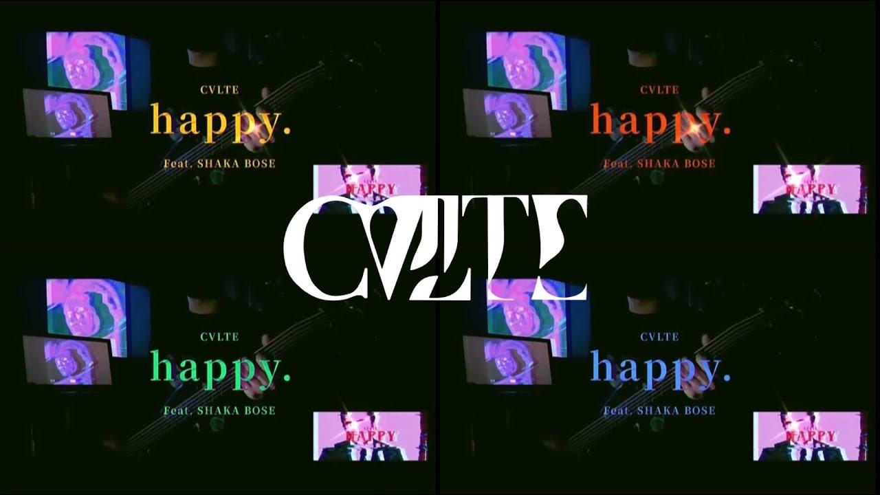 "CVLTE - ""happy. (feat. shaka bose 釈迦坊主)"" bass cover 【ベース弾いてみた】"