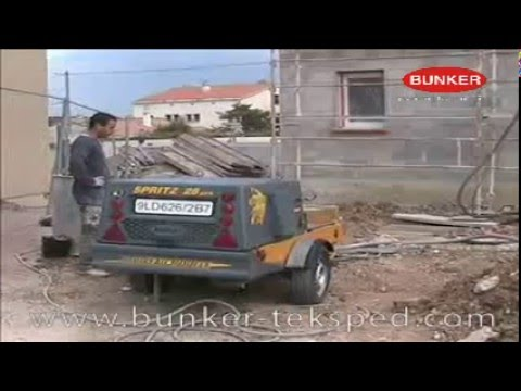 vr025 s28 machine a projeter avec b quilles hydrauliques youtube. Black Bedroom Furniture Sets. Home Design Ideas