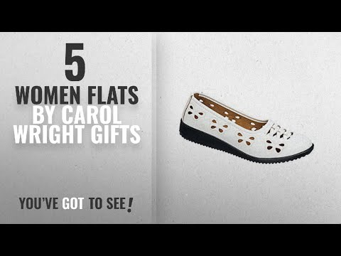 Top 5 Carol Wright Gifts Women Flats [2018]: Butterfly Flats, White, Size 11 (Wide)