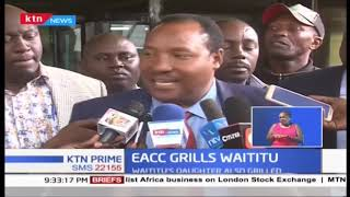 Governor Waititu, daughter grilled by EACC over alleged Sh588M graft