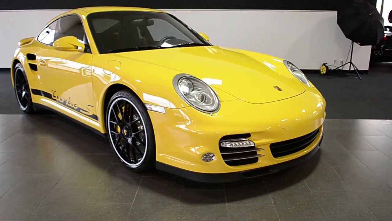 2011 Porsche 911 Carrera Turbo S Speed Yellow Lt0518 Youtube