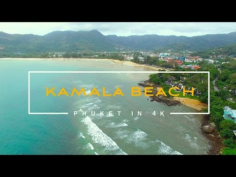 Kamala beach. Phuket. Thailand. October 2016. 4k video