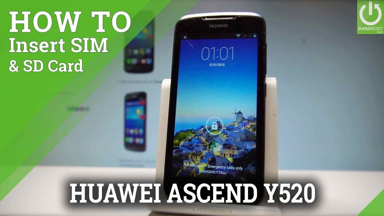 How to Insert Micro SIM and Micro SD in HUAWEI Ascend Y520