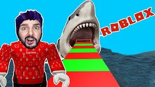 Roblox: Before the white shark escape! K FLEES BEFORE OF THE DANGER! White shark all German