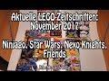 Aktuelle LEGO-Zeitschriften November 2017 (Star Wars, Ninjago, Nexo Knights und Friends)