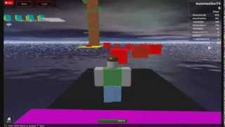 playing an awesome roblox course with my best friend