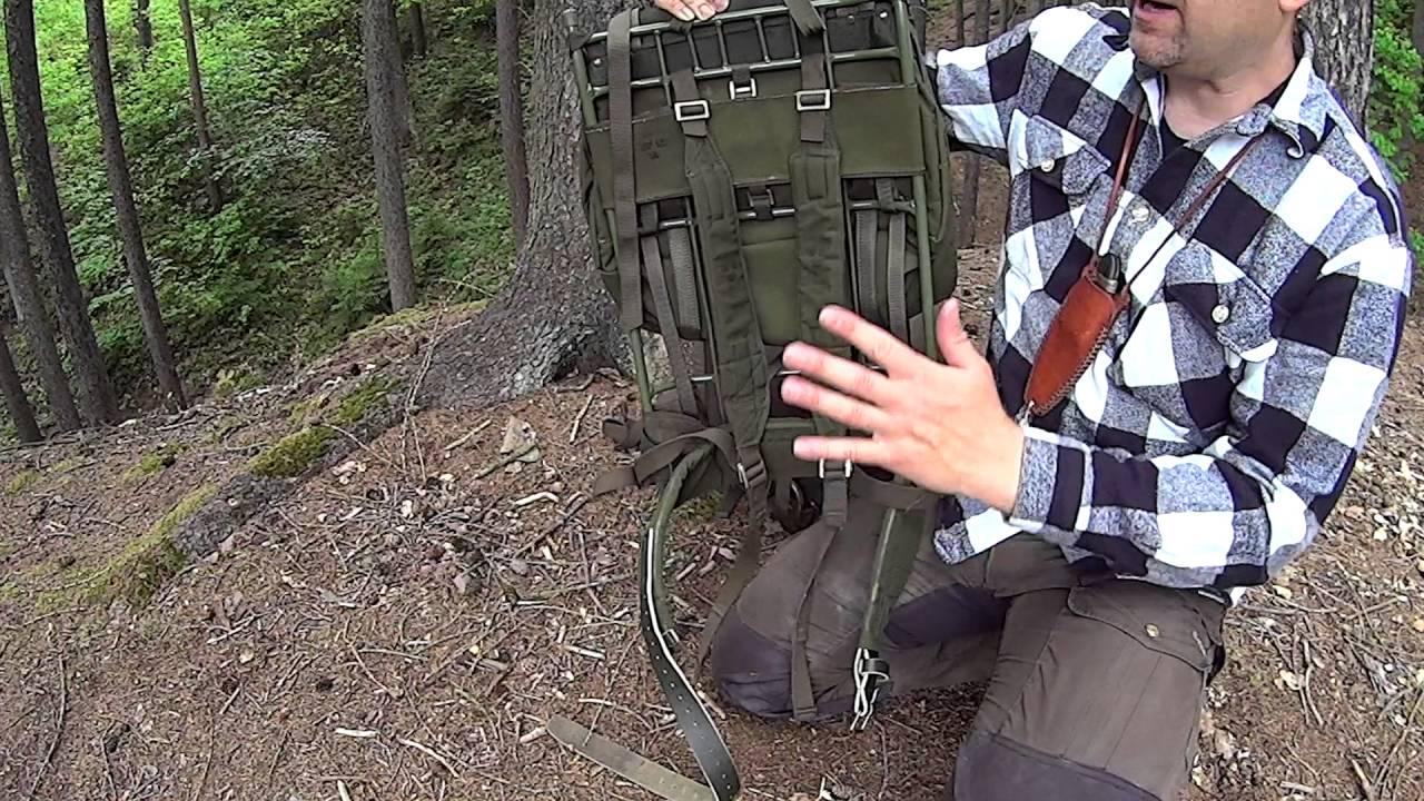 00bb4d9bcc LK 35 švédské armádní batohy - YouTube