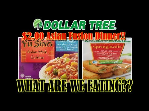Dollar Tree Asian Fusion Meal Combo! - WHAT ARE WE EATING?? - The Wolfe Pit