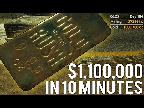 HUGE 1000 oz GOLD BAR WORTH $1,100,000 IN LESS THAN 10 MINUTES!! - Gold Rush: The Game Tips & Tricks