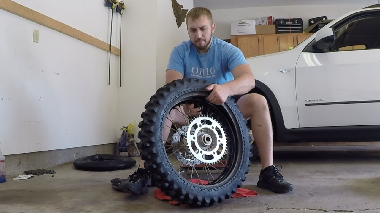 Dirt Bike Tire And Tube Change With Trail Tools Youtube