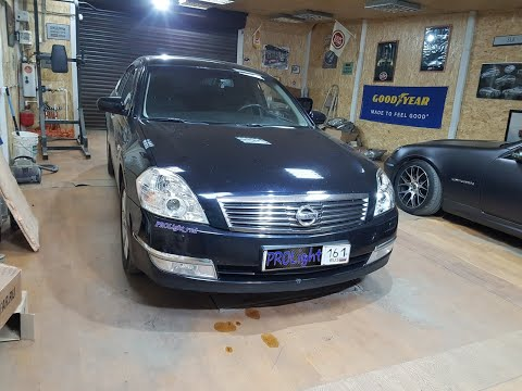 Nissan Teana. Замена линз на Hella 3. Скрытая установка ксенона.