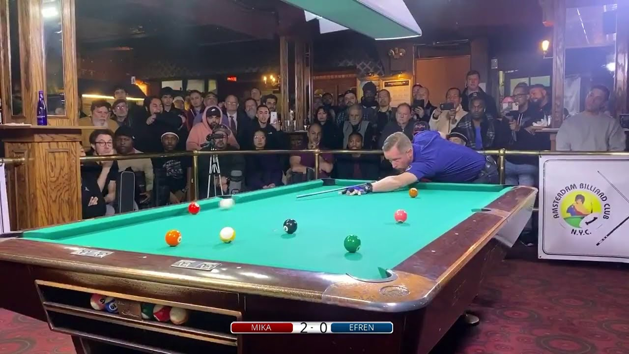 Efren Reyes vs. Mika Immonen 9-Ball   NYC 2020