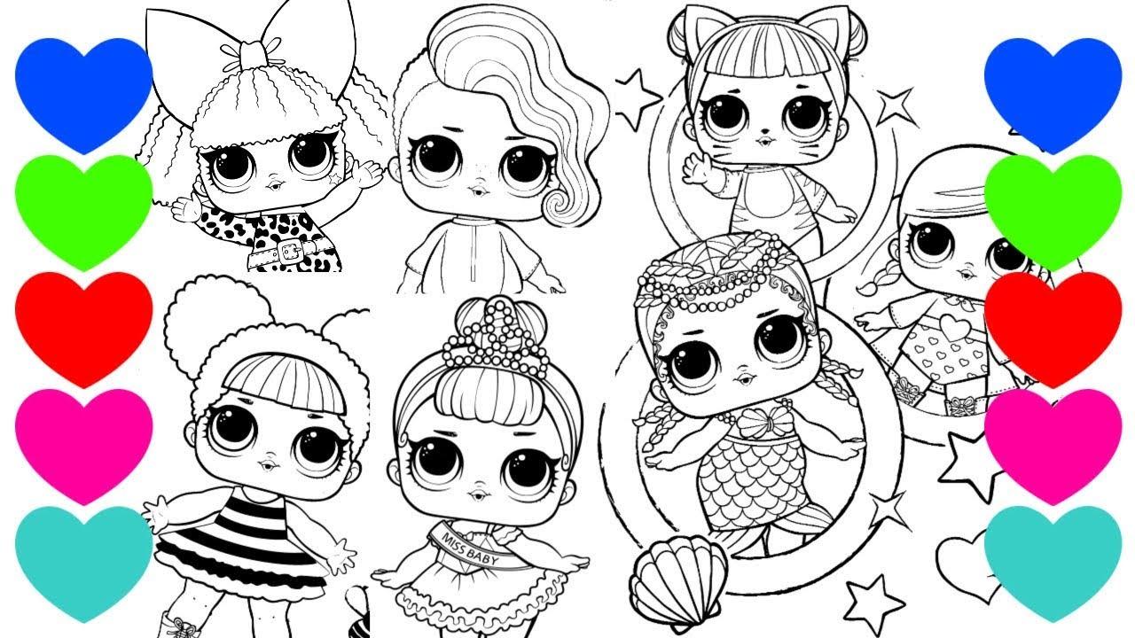 Especial Colorindo Desenhos Das Bonecas Lol Surpresa Pintar