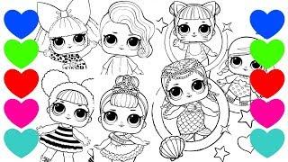 {ESPECIAL} Colorindo Desenhos das Bonecas LOL Surpresa | Pintar Desenho de LOL Surprise