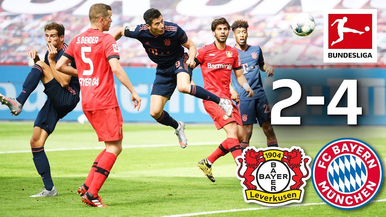 Bayer Leverkusen vs. FC Bayern München I 2-4 I Lewandowski Goal & Müller Assist Record