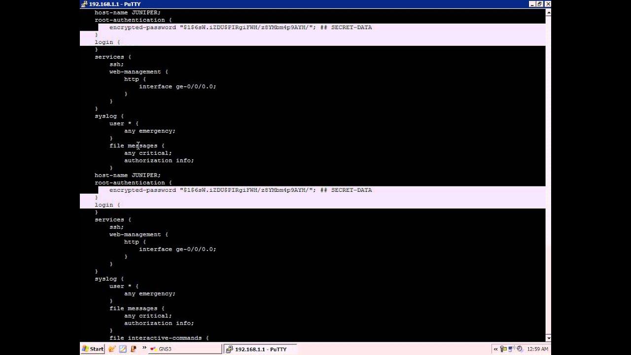Juniper JUNOS Configuration Basics Lab 1 Part 1 Full Version
