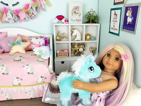 *UPDATED* UNICORN BEDROOM FOR AMERICAN GIRL DOLL