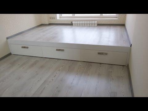 видео: Кровать подиум своими руками