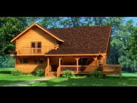 Casa de madera modelo aspen en 3d youtube for Modelos de casas de madera de un piso