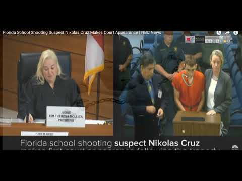 Florida shooter makes his first court appearance, and THE SECRET REVEALED  2018 02 16 By EeoN