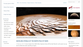 Planetary VORTEX found on MARS North Pole. Planetery FERROCELL-Like Pattern