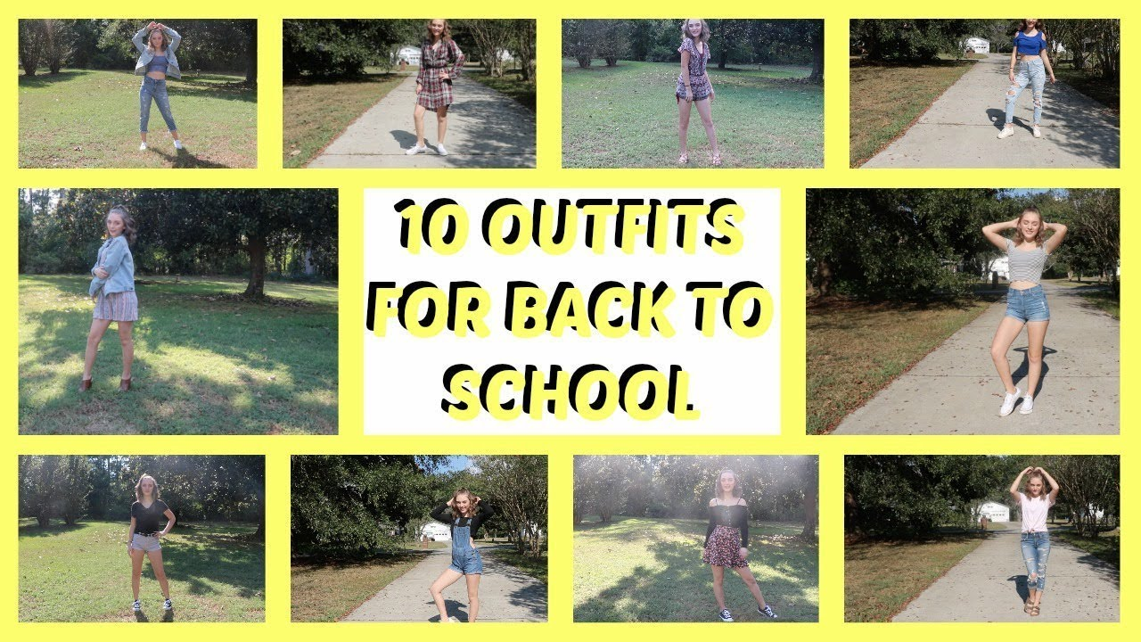 10 BACK TO SCHOOL OUTFIT IDEAS!! | BriannaMotte