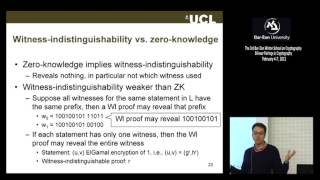 3rd BIU Winter School on Cryptography: Non-interactive Zero Knowledge - Jens Groth