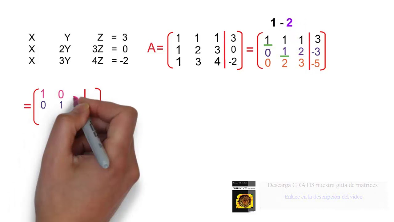Reducción de matrices calculadora