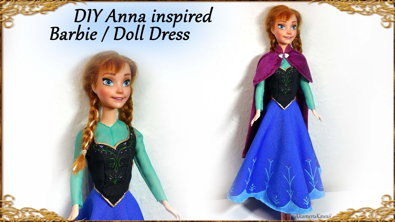 DIY Barbie / Doll Anna \