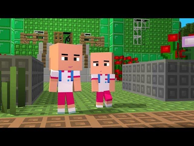 Upin Ipin BISMILLAH Sebelum Sekolah - Minecraft Animation