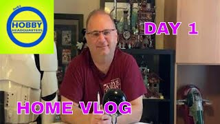 Andy's Hobby Headquarters Update  and Day 1 home vlog