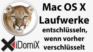 Mac OS X Verschlüsselte Laufwerke entschlüsseln und zu normalen konvertieren FileFault2