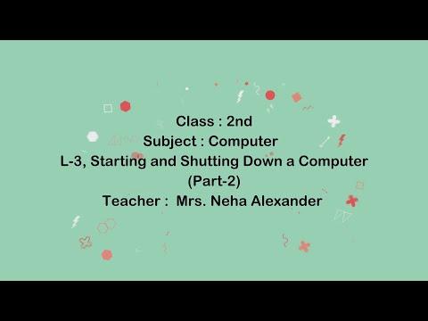 Class 2 | Computer | L-3, Starting and Shutting Down a Computer (Part-2) | Mrs. Neha Alexander