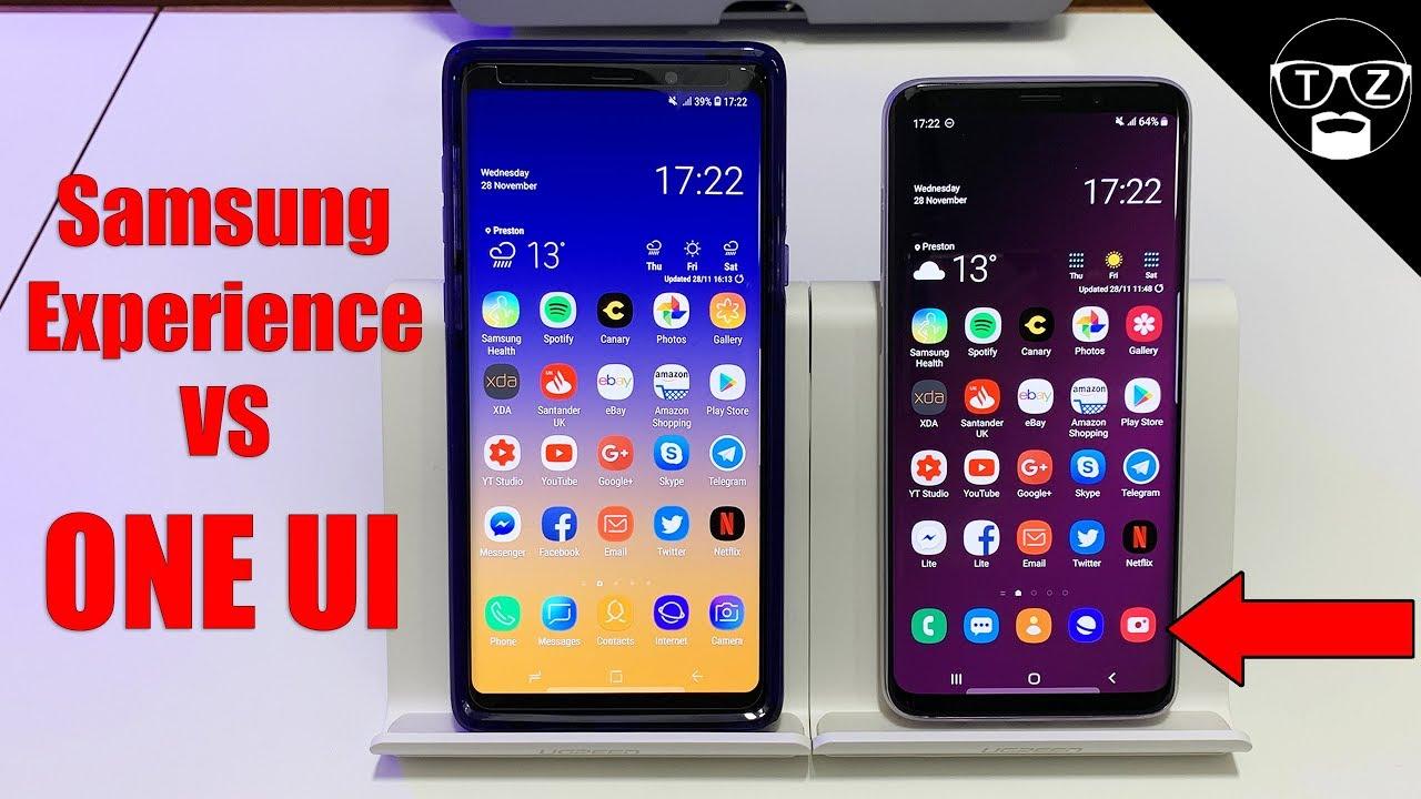 Samsung One UI VS Samsung Experience