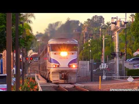HD HIGH SPEED!!! Amtrak Trains in Encinitas, CA (November 9th, 2013) + 3 BONUS SHOTS !!!